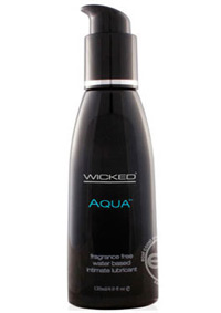 WICKED AQUA WATER BASED LUBE UNSCENTED 4OZ.